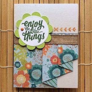 Handmade Enjoy Little Things Blank Greeting Card